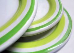 Three (vriesia2) Tags: macromondays theme glaze macro plate lines green
