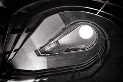 The Illusion Of Salvation (Douguerreotype) Tags: uk gb britain british england london city urban bw blackandwhite mono monochrome stairs steps staircase helix spiral buildings architecture