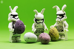 Easter Troopers (jezbags) Tags: lego legos toys toy minifigure minifigures canon60d canon 60d 100mm closeup upclose macro macrophotography macrodreams macrolego star starwars wars troopers trooper stormtrooper stormtroopers helmet ears eggs easter green white black minieggs