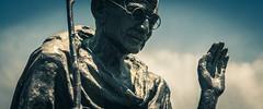 (AAcerbo) Tags: sanfrancisco california embarcadero gandhi statue widescreen cropped 241