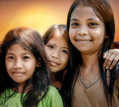 Friends (JDS Fine Art Photography) Tags: kids children girls childhood friends childhoodfriends bonding friendship comradery sunset warmth closeness