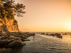 walk (dayonkaede) Tags: walk ocean sunset settingsun man fishing olympus em1markii m1240mm f28 landscape nature wind
