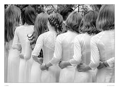 Graduate girls in white (sdc_foto) Tags: street sdcfoto streetphotography bw blackandwhite pentax pentaxart k1 hanoi vietnam white hands girls