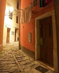Piran Old Town (cappuccino289) Tags: slovenia piran adria medieval night washing cobblestone