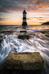 Rush (evorichie101) Tags: wave waves rush water sea seascape landscape anglesey penmon point lighthouse sunrise colours long exposure