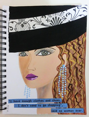 Art Journal Face (kholland1017) Tags: drawing faces whimsical fun lady girl woman painting art sketching mixedmedia artjournal