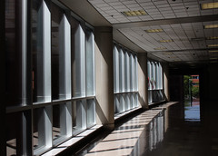 Flags in the windows (As_Roma_4) Tags: wall windows shadows pattern lights school canon