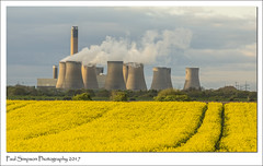 Drax, North Yorkshire (Paul Simpson Photography) Tags: northyorkshire drax draxpowerstation energy coolingtowers paulsimpsonphotography rapeseedoil farmland imagesof imageof photoof photosof sonya77 april2017 rural industry industrial cowick
