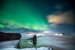 Iceland 2017 (Sandro Bisaro) Tags: vik iceland is island islanda aurora northernlights landscape landschaft sandrobisaro coast canon canon5dmarkiv canonef1635mmf28liiusm sky dyrhólaey nacht night nightphotography nature