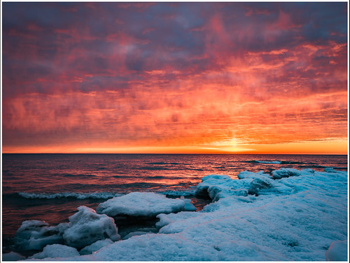 Fire and Ice Sunrise by Karl Knapp - Class B Digital Honorable Mention - March 2017