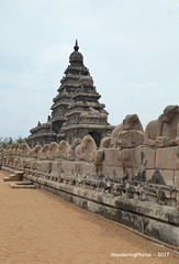 Shore Temple - 8th Century - Mahabalipuram Tamil Nadu India (WanderingPhotosPJB) Tags: india tamilnadu mahabalipuram shoretemple bayofbengal 8thcentury