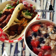 Today we ate at @birchwoodcoffeeko in #Yellowknife & had #fishtacos and #bushman #ricepudding  - Łekǫ (It tastes good)! #delicious #goodness #indigenousowned (Tlicho Online Store) Tags: yellowknife fishtacos bushman ricepudding delicious goodness indigenousowned