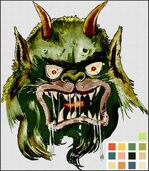 Moon Monster head and color guide
