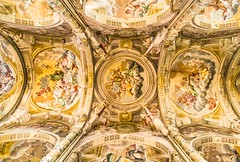 Baroque Ceiling (Franco Beccari) Tags: world city trip travel blue red vacation italy white holiday black color colour green tourism church yellow photography nikon europe cathedral piemonte celing nikkor baroque piedmont barocco asti d600