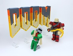LEGO DOOM (Ochre Jelly) Tags: game video lego doom videogame moc afol miniland brickcon