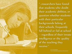 Quotation about students need to believe in themselves (Ken Whytock) Tags: students quality intelligence question backgrounds schools feedback academic researchers frequently innate abilitites growthmindset descriptivefeedback