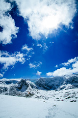 Rila Mountains (igor_uzunov) Tags: blue sky snow mountains clouds nikon tokina bulgaria rila d7000