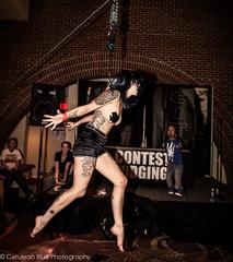 Kathleen O'Donnell Human Suspension Show at Raleigh Tattoo Festival (~Tara Tyler~) Tags: pierced blackandwhite art tattoo suspension extreme swing burlesque hang halos hooks bodysuspension humansuspension corruptedarts skindicate raleightattoofestival hooksandhalospiercing hooksandhalos suspensionteam