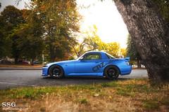Matte blue S2000 (MoniqueS Image) Tags: auto blue car vancouver honda wrap s2k s2000 matte jdm amuse ap2