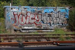 Juicy / Task (Alex Ellison) Tags: urban graffiti juicy boobs tag railway chrome sample graff festa merk tgs task trackside sfl northwestlondon nervo