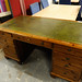 Ducal pine/green leather partners desk