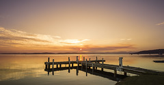 Squid's Ink Jetty (Amanda Ayre) Tags: sunset lake belmont jetty newsouthwales lakemacquarie squidsink amandaayre