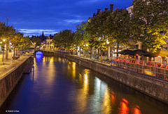 Canals of Leeuwarden Netherlands (Shahid A Khan) Tags: city travel holland building nature netherlands dutch architecture modern river photography town canal colorful europe shot nightshot stock cities images quay nightscene friesland quayside leeuwarden canon5dmark2 shahidakhan sakhanphotography wwwgalleryskcom