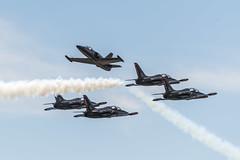 Patriots Jet Team Aero L-39 Albatros (Tajji101) Tags: show blue airplane army force aircraft air airplanes flight navy angles formation airshow miramar 2014 2913