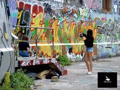 People and Urban art (Pegasus & Co) Tags: urban woman streetart art girl festival magazine painting graffiti book stencil paste femme arts lifestyle hype bubble block hiphop graff press rue livre flop  urbain throwup tarek pochoir  presse     paristonkar paristonkarmagazine pegasusandco