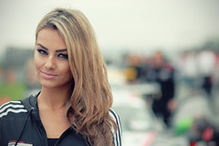 Grid Girl #7 (kly420) Tags: portrait hot sexy cup girl beautiful beauty face deutschland grid promo eyes dof bokeh babe portrt porsche masters gt augen circuit carrera adac pitbabe 2014 canonef85mmf18 schn hbsch sachsenring kly420