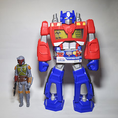 Scale is as scale does! (skipthefrogman) Tags: original rescue vintage giant fun toy prime star action figure warrior optimus boba wars shogun bots jumbo gentle fett