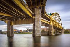 Under Ft. Duquesne (Jaime Dillen-Seibel) Tags: longexposure bridge architecture pittsburgh pennsylvania pa heinzfield burgh ftduquesnebridge