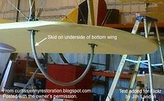 Curtiss JN-4D Skid Hoops (thegreatlandoni) Tags: usa detail america georgia airplane aircraft jenny jim restore restoration 1918 skid landon curtiss peachtreecity jn4 thegreatlandoni wingskid