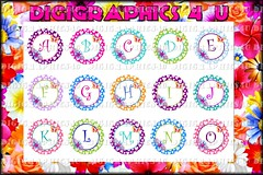 colorful girly alpha (DigiGraphics4u) Tags: jewelry etsy digitalimages keychains printables editable hairbows alphaletters digigraphics4u