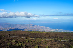 View on the Mediterranean from Etna volcano, Sicily (mjjmartinlux) Tags: italy landscape volcano mediterranean sicily etna hdr mjjmartinlux