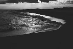 Ocean (Stacey Shay) Tags: ocean light sunset sea blackandwhite bw beach nature coast sand gulf florida shore