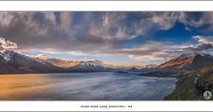 Dusk over Lake Wakatipu - NZ (John_Armytage) Tags: sunset newzealand panorama snow landscape dusk pano panoramic zealand nz lakewakatipu carlzeiss sonya7r