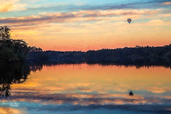 Balloon on Lake (Jason Gambone) Tags: park new sunset lake hot reflection canon state air balloon jersey 6d parvin ef24105mm