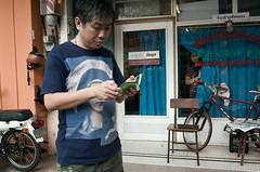 * (Sakulchai Sikitikul) Tags: street bicycle thailand streetphotography snap smartphone barber songkhla ricoh hatyai ricohgrv
