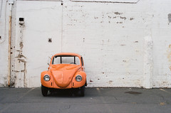 Beetle (Past Our Means) Tags: travel orange film vw 35mm canon kodak ae1 connecticut beetle portra indiefilmlab