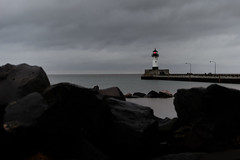 Light House_49839.jpg (Mully410 * Images) Tags: red lighthouse minnesota rocks northshore duluth lakesuperior canalpark