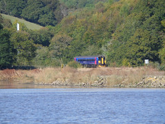153318 Terras Crossing, Sandplace (Marky7890) Tags: train cornwall terras looe dmu fgw supersprinter terrascrossing 153318 sandplace terrasbridge 2l86