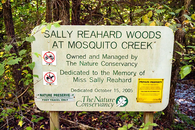 Sally Reahard Woods at Mosquito Creek - September 27, 2014