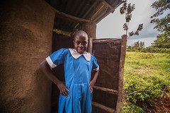 Christene in front of her toilet | Kenya (ReinierVanOorsouw) Tags: kenya health wash kenia hygiene ngo sanitation kakamega kenyai kisumu beyondborders gezondheid qunia  simavi   beyondbordersmedia beyondbordersutrecht sanitatie ngoproject