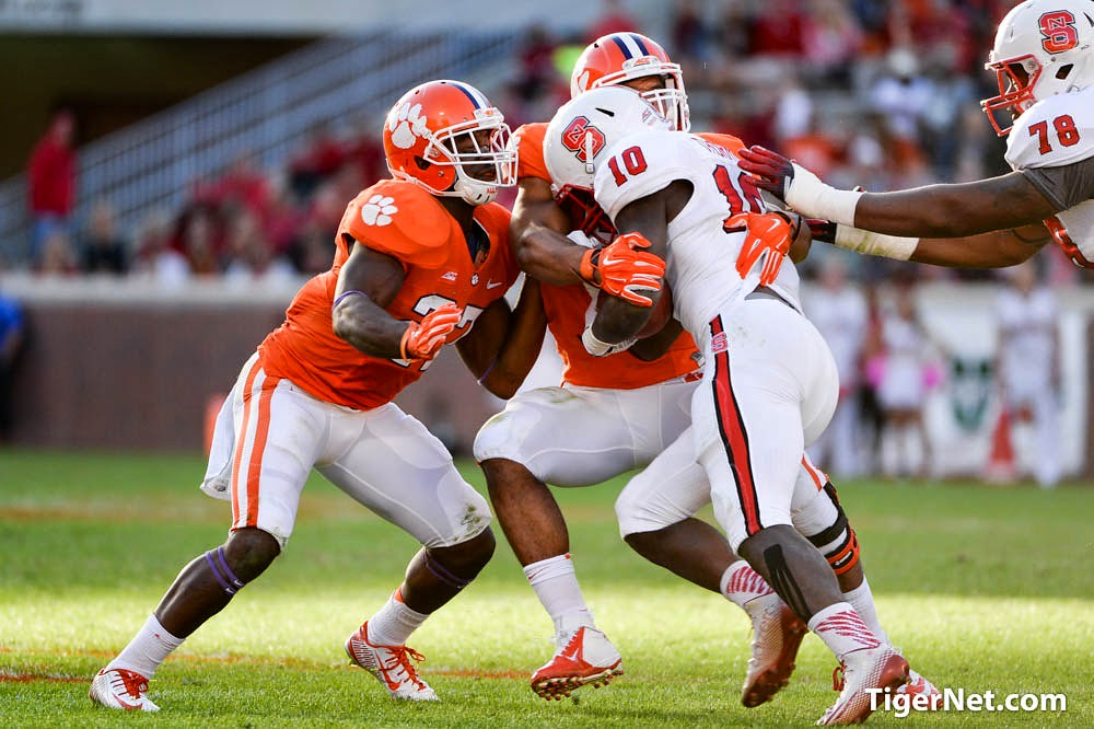 Clemson Photos: 2014, Football, Kellen  Jones, N C  State, Robert  Smith