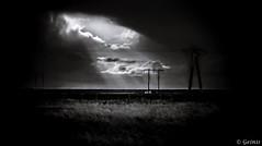 The light in the darkness. (Geinis) Tags: light sky blackandwhite bw black dark photography iceland darkness sland snfellsnes
