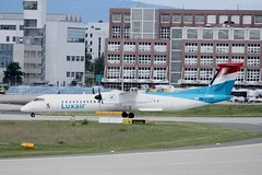 LX-LGG (IndiaEcho Photography) Tags: canon germany de eos airport frankfurt aircraft aeroplane dash eight fra airliner airfield bombardier luxair q400 eddf havilland 1000d lxlgg
