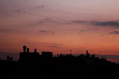 Twilight (CoolMcFlash) Tags: vienna wien city roof sunset sky urban orange building silhouette canon eos austria sterreich twilight cityscape sonnenuntergang view sundown himmel stadt tamron dach gebude umris 2470 flickrfriday kontur zwielicht a007 stadtlandschaft 60d