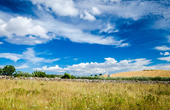 Campagna lucana (fede_gen88) Tags: blue summer sky italy clouds countryside nikon italia south country hill dry basilicata matera lucania d5100