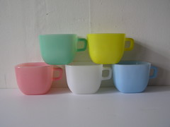Glasbake Mugs (mannhandledvintage) Tags: home vintage mugs living with brush fred press decor kokeshi mccoy barware glasbake taylorstone mccoypottery mannhandledvintage